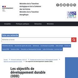 Les objectifs de développement durable (ODD)