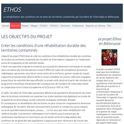 Objectifs - ETHOS