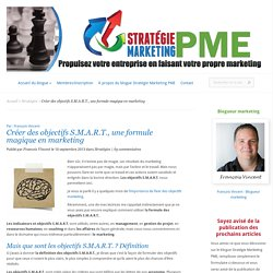 Créer des objectifs S.M.A.R.T., une formule magique en marketing - Stratégie Marketing PME