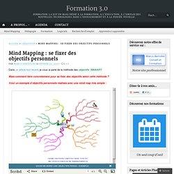 Mind Mapping : se fixer des objectifs personnels