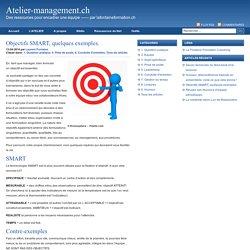 Objectifs SMART, quelques exemples. : Atelier-management.ch