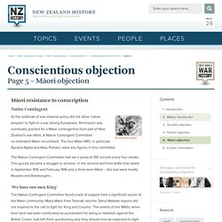 Māori objection - Conscientious objection