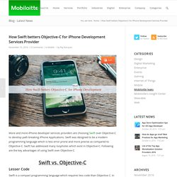 How Swift betters Objective-C for iPhone Developer Services - Mobiloitte Blog