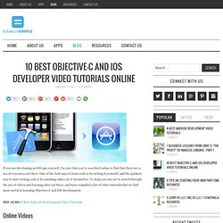 10 Best Objective-C and iOS Developer Video Tutorials Online - Equally Simple