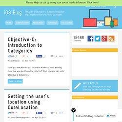 iOS-Blog - Objective-C Tutorials, Tools and Resources for iPhone Developers