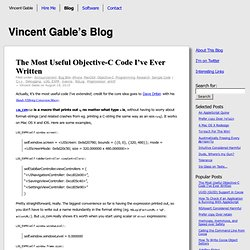 The Most Useful Objective-C Code I've Ever Written « Vincent Gable's Blog