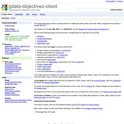 Download youtube api google data apis objective-c client