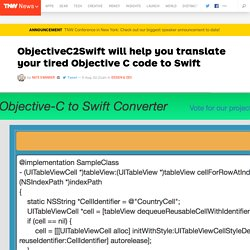 ObjectiveC2Swift will help you translate your tired Objective C code to Swift
