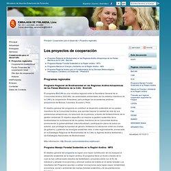 Objectivos de Cooperación - Embajada de Finlandia, Lima : Cooperación para el desarrollo : Proyectos regionales