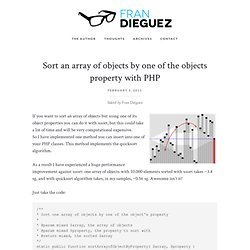 Sort an array of objects by one of the objects property with PHP
