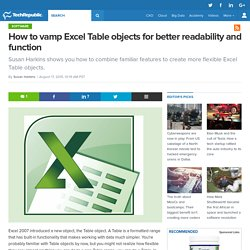 How to vamp Excel Table objects for better readability and function