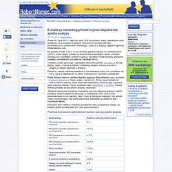 E-mailový marketing přináší nejvíce objednávek, zjistila analýza - RobertNemec.com