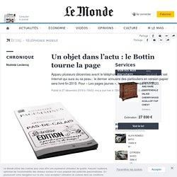 Un objet dans l'actu : le Bottin tourne la page