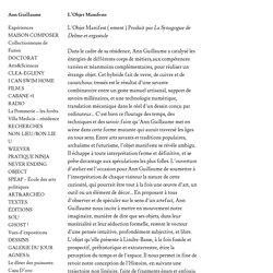 L'Objet Manifeste