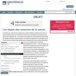 OBJET, Les objets des sciences de la nature