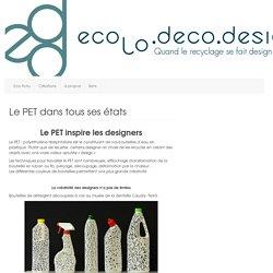Le PET objets créés à partir de bouteilles en plastique