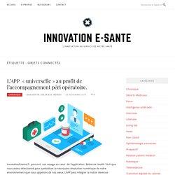 Objets connectés – Innovation e-sante
