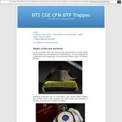 Objets cultes aux enchères « BTS CGE CFM BTP Trappes