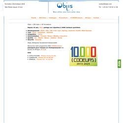 Objis = 200 tutos + 40 formations