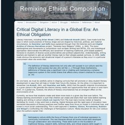 Critical Digital Literacy in a Global Era: An Ethical Obligation