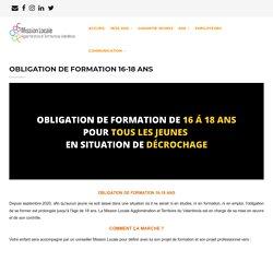 OBLIGATION DE FORMATION 16-18 ANS