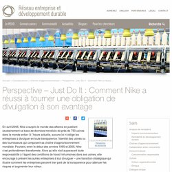 Just Do It : Comment Nike a réussi à tourner une obligation de divulgation à son avantage -