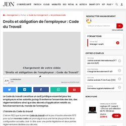 Droits et obligation de l'employeur: Code du Travail