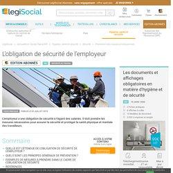 L'obligation de sécurité de l'employeur LégiSocial