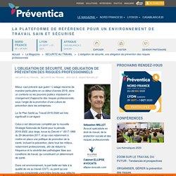 L'obligation de sécurité, une obligation de prévention des risques professionnels -