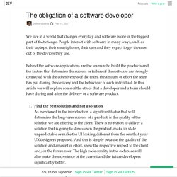 The obligation of a software developer