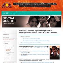 Australia's Human Rights Obligations to Aboriginal and Torres Strait Islander Children