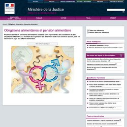 Obligations alimentaires et pension alimentaire