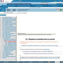 CF - Obligations comptables liées au contrôle