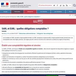 SARL et EURL : quelles obligations ... - economie.gouv.fr