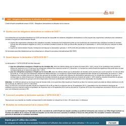 CICE : Obligations déclaratives et utilisation de la créance