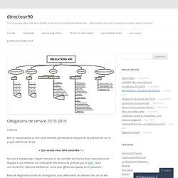 Obligations de service 2015-2016
