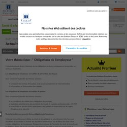 Obligations de l'employeur - Éditions Tissot