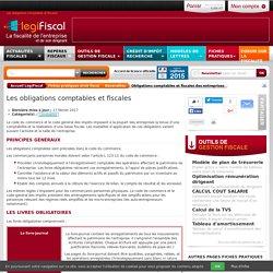 Obligations comptables et fiscales des entreprises LégiFiscal