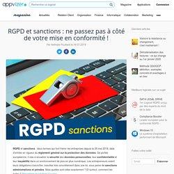 RGPD ▷ sanctions, mise en conformité et obligations des entreprises