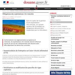 Obligations des exploitations viti-vinicoles