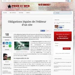 Obligations légales de l'éditeur d'un site