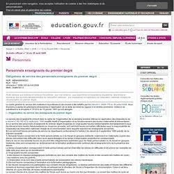 Obligations de service des personnels enseignants du premier degré - Menh0800652c