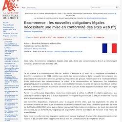 E-commerce : les nouvelles obligations légales nécessitant une mise en conformité des sites web (fr)