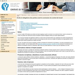 Droits et obligations des parties avant la conclusion du contrat de travail