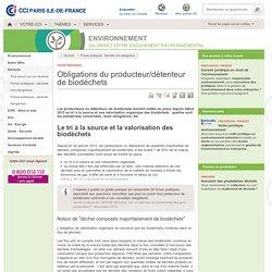 Les obligations du producteur/détenteur de biodéchets