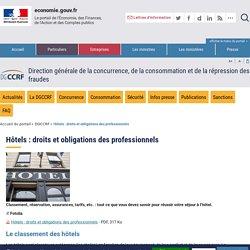 Hôtels : droits et obligations des professionnels