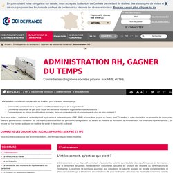 Les obligations sociales: gestion des ressources humaines avec CCI France
