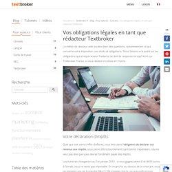 Vos obligations légales en tant que rédacteur Textbroker
