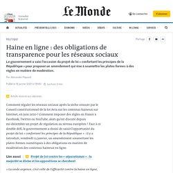 Haine en ligne: des obligations de transparence pour les réseaux sociaux