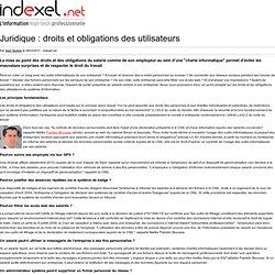 Doits/obligations des utilisateurs de TIC